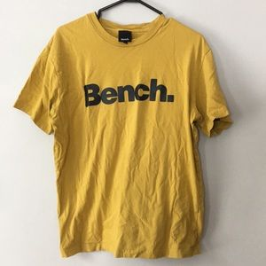 2/$20 Bench Mustard T-shirt Men's Size Large